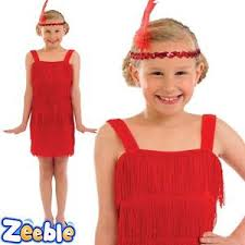 girls 1920s flapper costume red dress charleston kids book