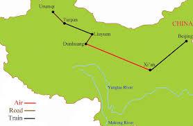 Silk Road Map Silk Road China Tour October 2014 Tropical Sails Corp Travel