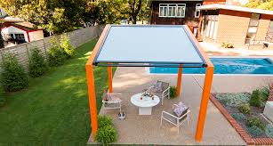 Pergola Coverings For Rain by Shadeflex U0026 Rainflex Motorized Pergola Canopies Structureworks