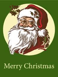 retro santa christmas card birthday u0026 greeting cards by davia