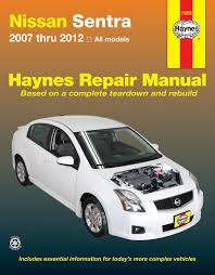 nissan sentra 07 12 haynes repair manual haynes manuals