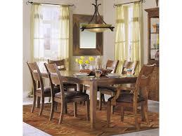 klaussner international urban craftsmen dining table homeworld shown as part of 7 piece dining set
