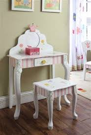 child s dressing table and chair girly vanity chair elegant girls children s kids princess crown