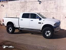 Dodge Ram White - dodge ram 2500 fuel full blown d255 wheels gloss white u0026 milled