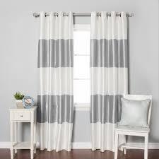 majestic looking white blackout curtains grommet grommet top