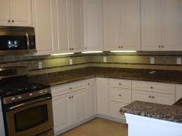 interior white kitchen backsplash glass tiles glass tile