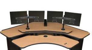 Ergonomic Computer Desk Sit Stand Desk Control Room Desk Houston Tx Ca Ny Usa
