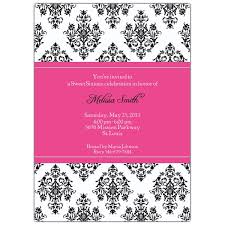 pink damask sweet sixteen invitations paperstyle