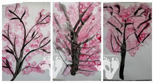 spring painting ideas spring blossom tree painting 3 dinosaurs