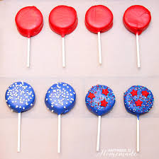 Where To Buy White Fudge Oreos Patriotic Oreo Pops For 4th Of July Happiness Is Homemade