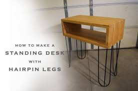 Make A Standing Desk by How To Make A Standing Desk Youtube