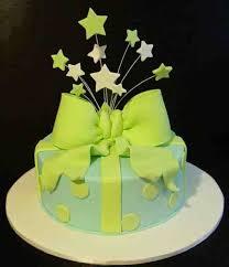 round gift box cake design mustaches instead of stars tie down
