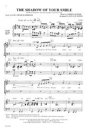 shadow of your smile satb by moore j w pepper sheet music
