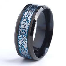 blue steel rings images 8mm black dragon blue carbon fiber wedding rings for women 316l jpeg