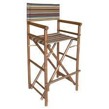 The Directors Chair On The Set Bamboo 18 Inch Standard Height Directors Chairs With Solid Cover
