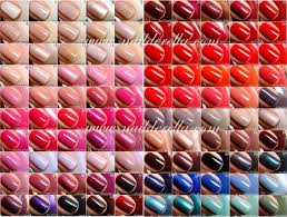 pink color shades essie color guide 1 100 nailderella