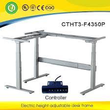 Desk Shapes Desk Uplift Height Adjustable Standing Desk Frame 2 Leg Electric