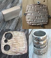 mokume gane gane wood grain pattern in metal