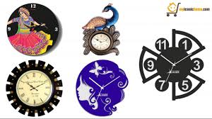 ethnic wall clock designs youtube