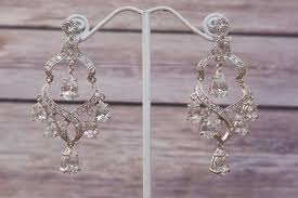 chandelier wedding earrings rhinestone bridal earrings chandelier drop earring