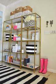 Gold Bookcase Home Entryway Mckenna Bleu