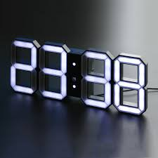 digital led clock white white kibardindesign touch of modern