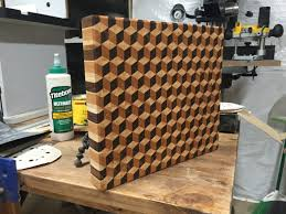 Cool Cutting Board Designs He Built This Epic Kitchen Cutting Board Using Just Wood And Glue