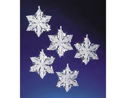 6 bead u0026 pipecleaner snowflakes christmas ornament craft kit