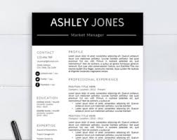 Resume Template For Pages Medical Resume Template Cv Template For Word Two Pages