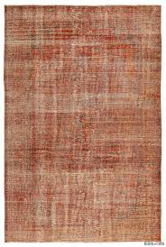 k0011693 orange over dyed turkish vintage rug kilim rugs