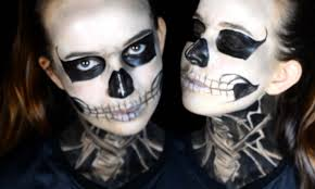 Skeleton Halloween Makeup by Tate U0027s Skull American Horror Story Makeup Tutorial Youtube