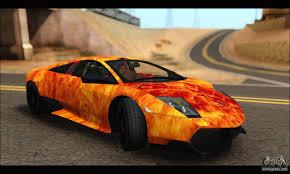 Lamborghini Murcielago Orange - lamborghini murcielago in flames for gta san andreas