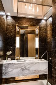 nice black and white nuance of the modern powder rooms that has