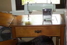 White Sewing Machine Cabinet by 1940 White Sewing Machine With Cabinet In Good Condition Antique