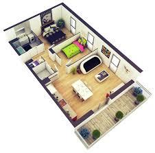 Two Bedroom Floor Plans 20 More 2 Bedroom 3d Floor Plans Home Decoratings And Diy