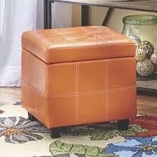 Orange Storage Ottoman Orange Storage Ottoman From Country Door 739159
