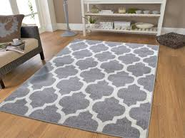 luxury large 8x11 gray moroccan trellis area rug grey and white