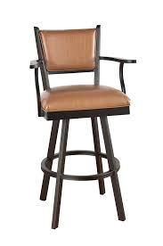Oak Bar Stool With Back Bow Back Designed Swivel Bar Stool With Tapered Legs Metal Bar