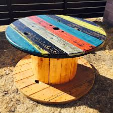 refurbished electrical wire spool table u2013 the how to duo