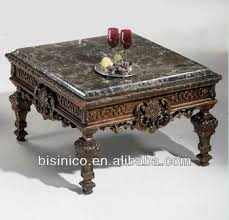carved wood coffee table luxury spanish style living room square hand carved wooden coffee