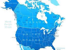 map of united states and canada united states canada regional map mapsofnet usa county world