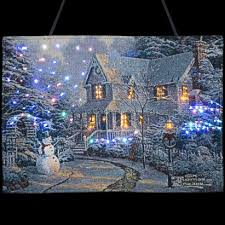 kinkade a snowman s welcome wall hanging tapestry