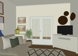 traditional living room design plan with neutrals blues and greens