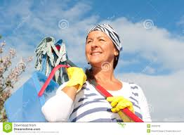Time For Spring Cleaning by Spring Cleaning Woman Outdoor Stock Photo Image 26939700