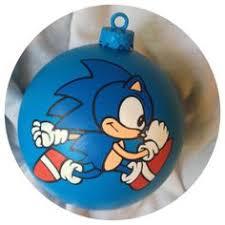 sonic the hedgehog painted ornament sega genesis