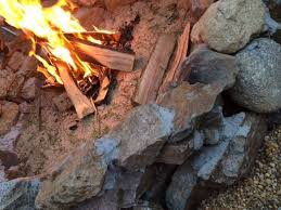 Backyard Campfire Diy Backyard Fire Pit Hometalk