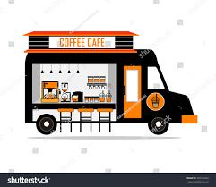 espresso coffee clipart coffee street truck espresso machine disposable stock vector
