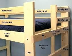 Bunk Bed Building Plans Free Diy Loft Bed With Desk Size Loft Bed Plans Diy