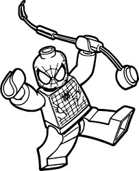 box spiderman lego spider man coloring wecoloringpage