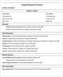 Nursing Resume Examples With Clinical Experience by Rn New Grad Resume Objective Sample Resume Rn Registered Nurse
